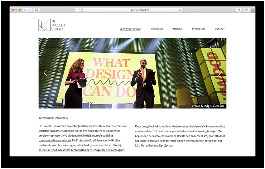 Website - De Projectstudio