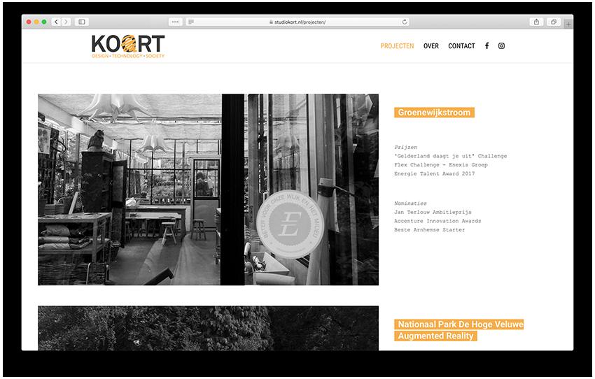 Website - Studio Kort