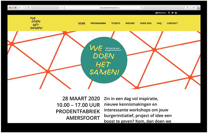 Website - We Doen Het Samen Festival