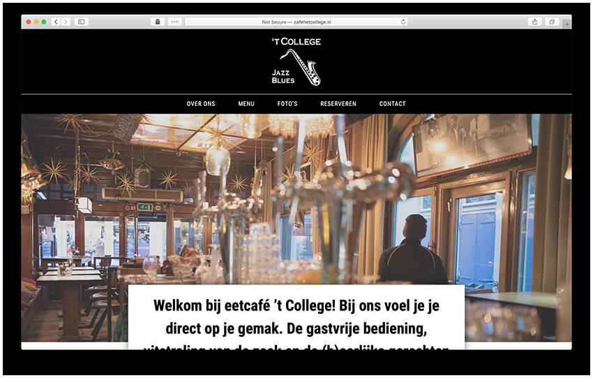 Website - Cafe 't College Utrecht