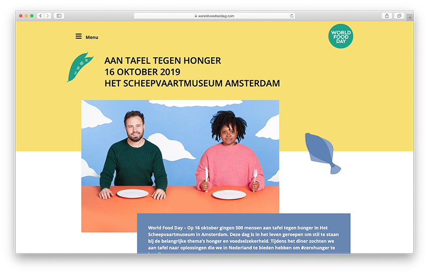 Website Wereldvoedseldag 2019